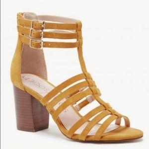 Sole Society Elise Caged City Sandal Block Heel 9